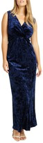 Studio 8 Katie V Neck Sleeveless Velvet Maxi Dress, Midnight