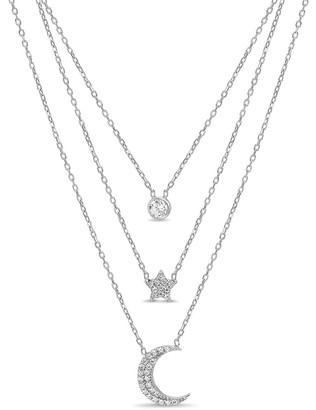 Lesa Michele Celestial Station Triple Layer Necklace
