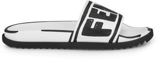 Fendi Logo Stamp Pool Slide Sandals