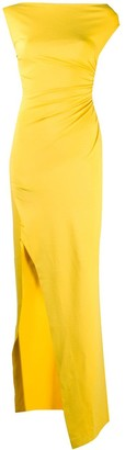 DSQUARED2 Asymmetric Ruched Maxi Dress