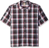 Dickies Men's Big-Tall Short Sleeve Square Bottom Plaid Shirt