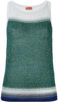 Missoni glittery effect blockcolour tank - women - Polyester/Cupro - 40