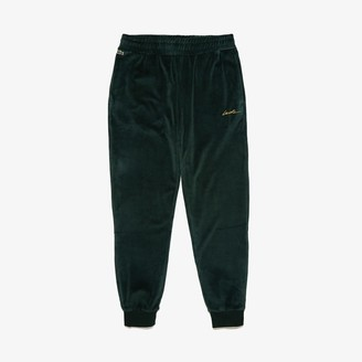 Lacoste Men's LIVE Golden Signature Velvet Sweatpants