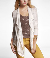 Express Shadow Stripe Cascade Front Cardigan