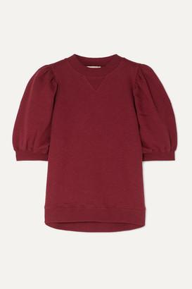 Ulla Johnson Rami Cotton-jersey Sweatshirt - Burgundy