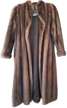Saint Laurent Brown Mink Coat for Women Vintage