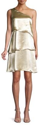 Ava & Aiden One-Shoulder Mini Dress