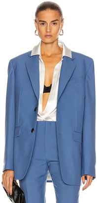 Givenchy Notch Lapel Jacket in Steel Blue | FWRD