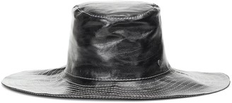 Maison Michel Lauren leather hat