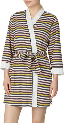 Kate Spade Print Short Terry Robe