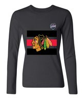 WOLOMO Women's Chicago hawks 2016 Long Sleeves T-Shirt