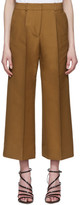 Victoria Victoria Beckham Tan Double Cloth Cropped Chino Culottes
