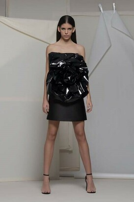 Isabel Sanchis Angolo Strapless Cocktail Dress