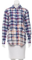 Sea Plaid Button-Up Top w/ Tags