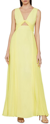 BCBGMAXAZRIA Empire Waist Satin Gown