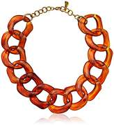 Yochi Tortoise Super Light Chunky Lucite Necklace