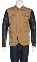 DSQUARED2 Leather-Trimmed Chore Jacket