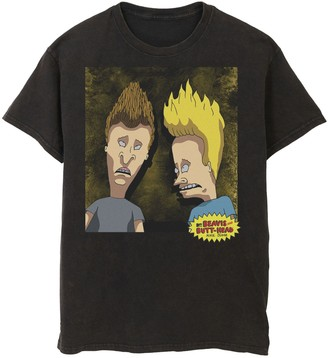 Licensed Character Men's Beavis And Butt-Head Detailed Portrait Tee