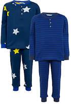 John Lewis Children's Star and Stripe Pyjamas, Pack of 2, Blue