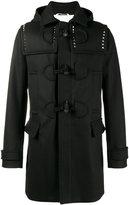 Valentino Rockstud duffle coat - men - Cotton/Linen/Flax/Cupro/Wool - 48