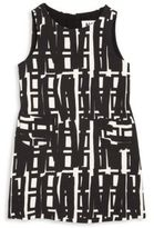 Milly Minis Little Girl's Linear Geometric Printed Shift Dress
