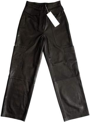 Arket Black Leather Trousers for Women