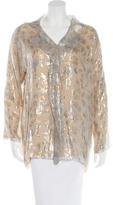 Shamask Metallic Silk Blouse w/ Tags