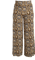 Glam Brown & Gold Abstract Palazzo Pants - Plus
