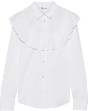 RED Valentino Ruffled Cotton-blend Poplin Shirt