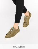 Puma Exclusive To ASOS Suede Basket Sneakers In Khaki