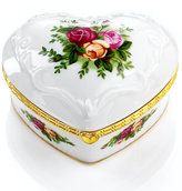 Royal Albert Jewelry Box, Old Country Roses Musical Heart