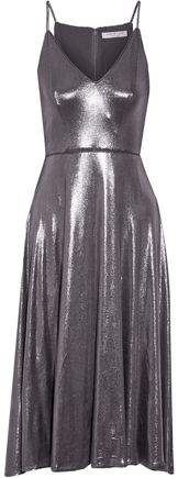 Halston Lamé Midi Dress