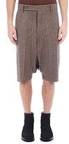 Rick Owens Men's Tailored Pod Shorts-GREY