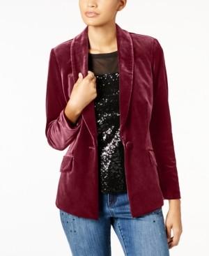 INC International Concepts Inc Petite Velvet Blazer, Created for Macy's
