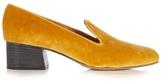 Chloé Kingsley velvet loafers