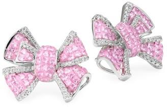 Fallon Diamante Bow Stud Earrings