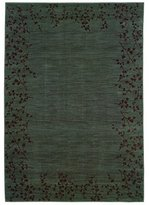 "Oriental Weavers Allure 1'11"" x 3'3"" Machine Woven Rug in Blue"