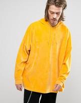 Asos Extreme Oversized Hoodie in Yellow Velour