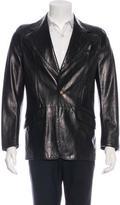 Fendi Leather Lion Blazer