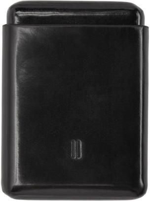 Boris Bidjan Saberi Black Leather Card Holder