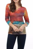 FDJ French Dressing Ocean Sunset Crew Top