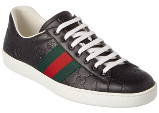 Gucci Ace Signature Leather Sneaker