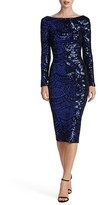 Dress the Population Women's Emery Scoop Back Sequin Midi Dress