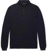 Ermenegildo Zegna Wool And Cashmere-blend Polo Shirt - Navy