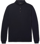 Ermenegildo Zegna Wool and Cashmere-Blend Polo Shirt