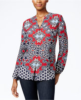 Charter Club Printed Button-Front Shirt, Only at Macy's