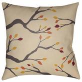 Surya Autumn Branches Square Throw Pillow