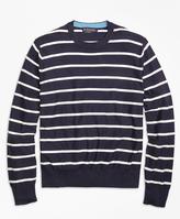 Brooks Brothers Lightweight Breton Stripe Crewneck Sweater