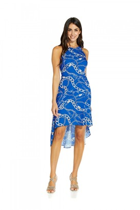 Adrianna Papell Chain Print High Low Dress