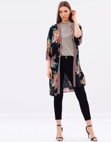 Wallis Longline Floral Kimono Jacket